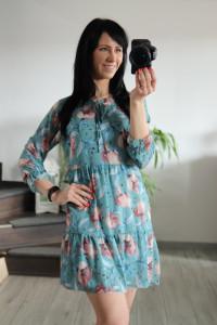 Sukienka szyfon Turks kwiaty