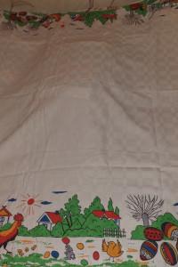 Obrus wielkanocny koguty 170x130 cm