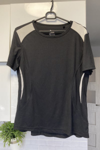 Crivit czarna koszulka sportowa rozmiar M