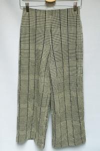 Spodnie H&M XS 34 Rozszerzane Nogawki Kratka Kratkę...