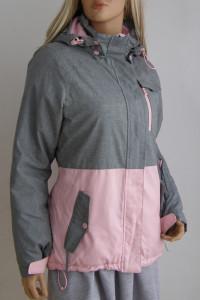 kurtka zimowa kaptur ciepła S Hause różowa...