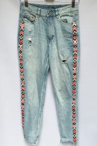 Spodnie Lampasy Dzinsy H&M Divided S 36 Dziury Jeansy...