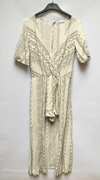 Kombinezony Kombinezon Wzory Kremowy Sukienka Pull&Bear L 40 Aztec