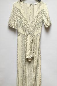 Kombinezon Wzory Kremowy Sukienka Pull&Bear L 40 Aztec...