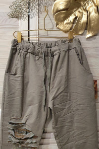 Spodnie z cekinową aplikacją Wyprzedaż kolekcji rozmiar uniwers...