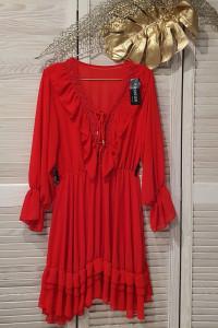 Włoska sukienka z falbanami Wyprzedaż...