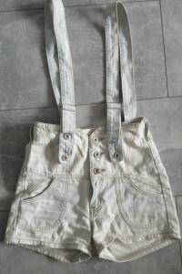 Spodenki jeans z szelkami rozm M...