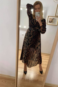 Sukienka plisowana z paskiem NOWA z metką...