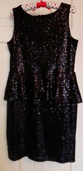 Suknie i sukienki Papaya czarna sukienka cekiny