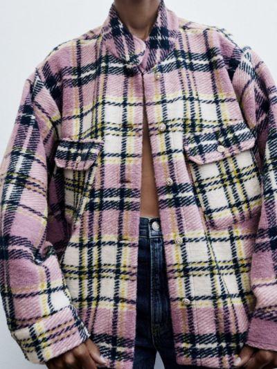 Odzież wierzchnia Nowa kurtka koszula w krate zara