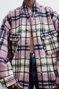 Nowa kurtka koszula w krate zara...