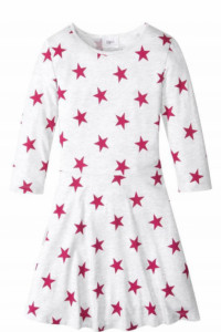 Nowa rozkloszowana sukienka w gwiazdki rozmiar 164