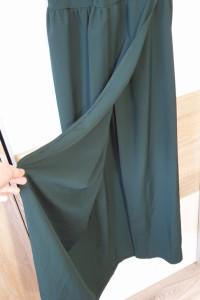 Długa sukienka butelkowa zieleń...