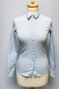 Koszula Niebieska XS 34 H&M Kropki Groszki Elegancka...