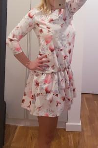 Sukienka Florence biała kwiecista