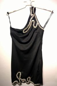 Miss Selfridge czarna sukienka koktajlowa r36...