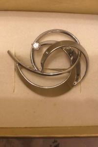 K&L nowa śliczna broszka srebro 835
