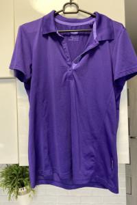 Crivit fioletowa koszulka sportowa polo rozmiar M...