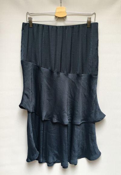 Spódnice Spódniczka Granatowa XL 42 Bodyflirt Falbanki Elegancka