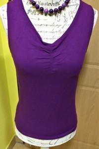 Fioletowa bluzka na ramiaczkach PION r L XL