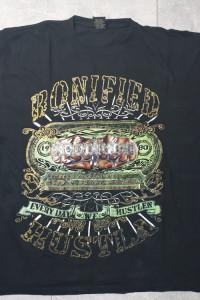 T shirt męski czarny z logo 3XL