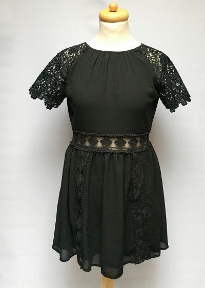 Suknie i sukienki Sukienka Czarna NOWA Rozkloszowana Lipsy London S 36 Koronka