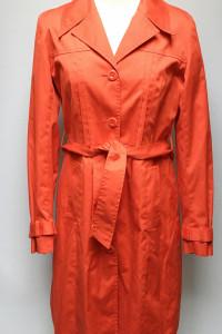 Płaszcz Trencz Czerwony XL 42 H&M Rozkloszowany