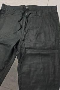 H&M lniane spodnie męskie rozm 54