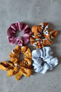 zestaw gumek scrunchie