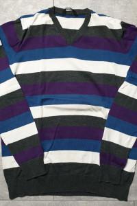 Pull&Bear fajny sweterek serek do jeansów XL...