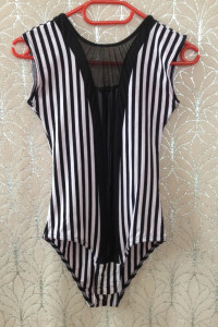 Body paski czarne różowe mesh używane tanie elastyczne bluzka XS S M 34 36 38 evita pastelowy róz