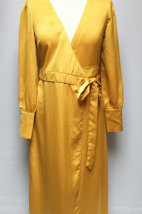 Sukienka Musztardowa Glamorous Kopertowa S 36 Wizytowa...