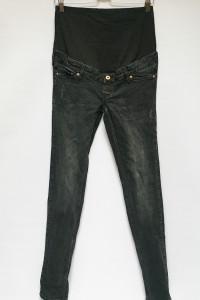 Spodnie Rurki S 36 H&M Mama Ciążowe Przetarcia Skinny...