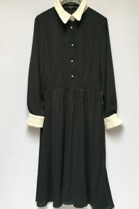 Sukienka Czarna Zara Basic M 38 Elegancka Rozkloszowana...