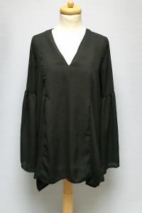 Bluzka Czarna Rozszerzane Rękawy Gina Tricot M 38...