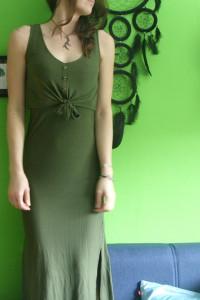 zielona sukienka maxi letnia sukienka z rozcięciem...