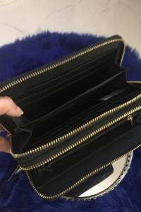 Czarny portfel duży