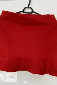 moe nowa spódniczka mini czerwona falbanka rozmiar XS...