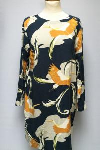 Sukienka H&M Wzory Granatowa Prosta M 38 Wzorki...