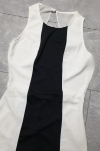 Bershka sukienka czarno biała 40 L...