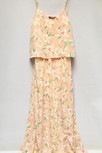 Sukienka Maxi Long NOWA Kwiaty Różowa S 36 Fashion Union Długa...