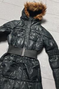 Reserved płaszcz zimowy czarny XS...