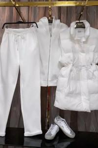 3 w 1 komplet dres z kamiezelką biel
