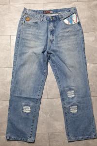 Sixty Nine niebieskie jeansy męskie z dziurami 38...