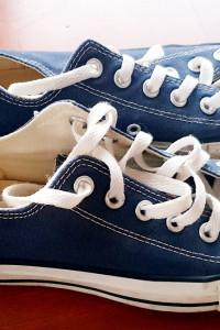 Granatowe trampki Converse