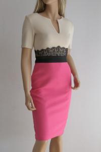 Sukienka dopasowana ołówkowa koronka S biznesowa...