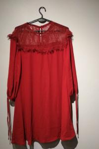 Bordowa Sukienka rozmiar 36
