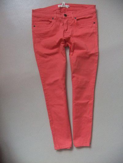 Spodnie H&M fajne koralowe spodnierurki M
