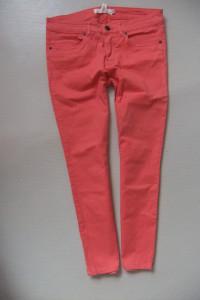 H&M fajne koralowe spodnierurki M...