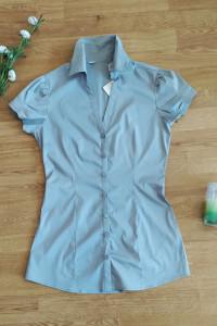 Szara taliowana koszula damska 36 S...